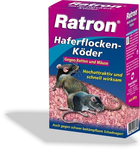 ratron haferflocken k der gegen m use und ratten 400g der futterversand und mehr. Black Bedroom Furniture Sets. Home Design Ideas